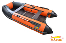 Моторная лодка ПВХ Zefir 3700 темносер/оранж