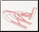ДвуЛыжная сцепка разборная с амортизатором